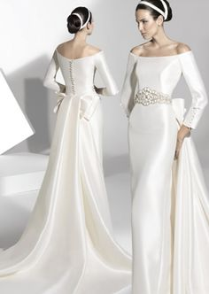 Discount 2013 A-line Bateau Chapel Train with Applique Ribbon Satin Wedding Dress Online
