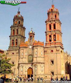 Catedral de Nuestra Señora de la Expectación de San Luis Potosí. Arquitectura barroca/ neoclásica. Año 1670 - 1730.