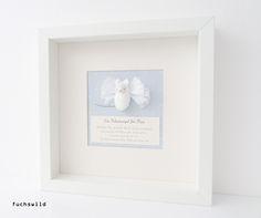 Geschenke von Taufpaten, Babygeschenke, Schutzengel Bild, Maus Engel blau 1