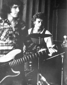 John Wetton and Bill Bruford, King Crimson. Canterbury, Jazz, Hard Rock, Rock And Roll, Bill Bruford, John Wetton, Alan White, Psychedelic Bands, Grunge