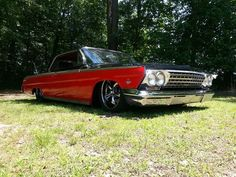 Custom Lowrider Cars for Sale | Sell new 1962 Impala Bagged Lowrider Custom 63 64 Viper Red & Black in ...