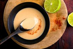 Creamy miso-ginger dressing for cooked vegetables, spinach salads, tofu and noodle salads or a simple bowl of rice.