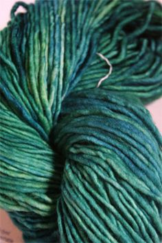 Smaller than RASTA, bigger than Rastita, Malabrigo's new Mecha yarn is a super-smooth, slightly felted single ply bulky/worsted weight. Just stunning - smooth and silky with a slight sheen. And, of co