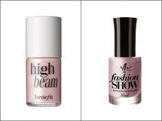 Hit: Iluminador High Beam da BenefitQuanto? R$ 129 na Sephora. Alternativa: Iluminador Facial Líquido Fashion Show da Yes! CosmeticsQuanto? R$ 21,90 no site da marca.