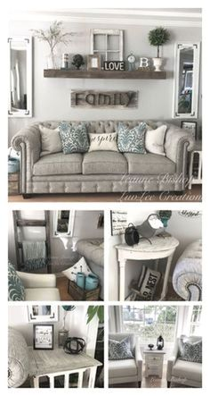 Farmhouse living room wall decor behind couch 28 ideas for 2019 Bauernhaus Wohnzimmer Wanddekoration Beautiful Living Rooms, Small Living Rooms, Home Living Room, Living Room Designs, Modern Living, Living Area, Apartment Living, Rustic Living Room Decor, Simple Living