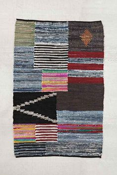 Locust leather patch rug