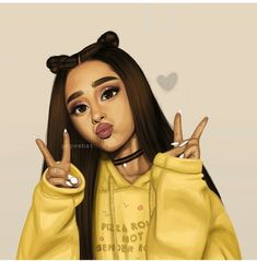 drawing of ariana grande (i didn't draw this) Ariana Grande Drawings, Ariana Grande Fans, Ariana Grande Wallpaper, Ariana Grande Anime, Girly M, Tumblr Drawings, Girly Drawings, Drawings Of Girls, Tumblr Girl Drawing