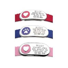 $11.95 flat id tag for pet collars. No more jingling when Pixie runs around the house.