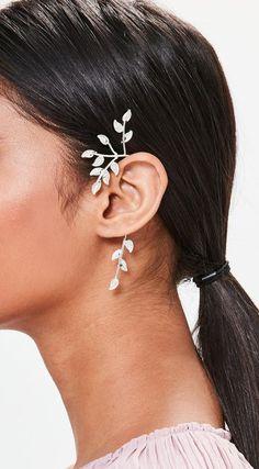 Silver Leaf Ear Cuff