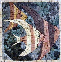 Colorful Fish Mosaic