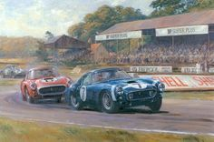 Alan Fearnley, 1942 ~ Retro and Classic Car Classic Race Cars, Car Racer, Classic Motors, Poster Ads, Victoria, Car Drawings, Vintage Artwork, Happy Art, Automotive Art