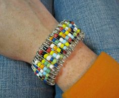This Thrifty House: Safety Pin Bracelet