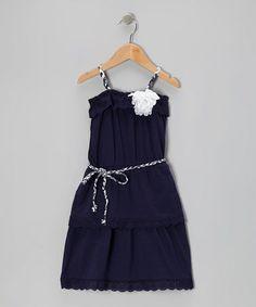 Another great find on #zulily! Navy Lace Senorita Dress - Toddler & Girls #zulilyfinds