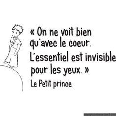 Stickers muraux citations - Sticker mural Le petit Prince 2