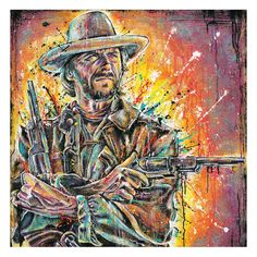 12 x 12 High Quality Art Print Poster Clint by pointblankart