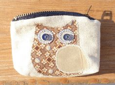 Blue Eyed Owl Coin and Card Purse by Molipop on Etsy
