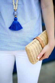Design Darling Cricket blue tassel necklace.