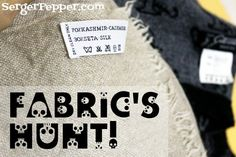 Frugal Refashion Tip 2: Fabric's Hunt! How to shop for fabrics and choose better quality on thrifty shops... only on SergerPepper.com #blogboost