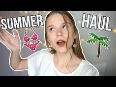 Ετοιμη για παραλία (HAUL) - YouTube Youtubers, Summer, Summer Time