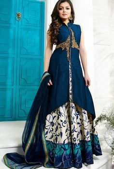 Blue Designer Party Wear Dress