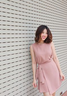 Korean Fashion Trends, Korean Street Fashion, Daily Fashion, Fashion Beauty, Girl Fashion, Cute Dresses, Casual Dresses, Fashion Dresses, Asian Style Dress