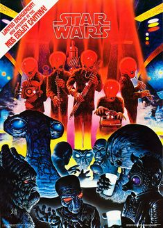 Mos Eisley Cantina Band Poster Star Wars by ColorWheelPrints