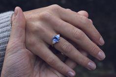 Moira Patience Fine Jewellery Bespoke Sapphire and Diamond Engagement Ring 1 Sapphire Wedding Rings, Silver Wedding Rings, Blue Sapphire Rings, Sapphire Diamond, Wedding Ring Bands, Diamond Engagement Rings, Ceylon Sapphire, Sapphire Stone, Engraved Rings
