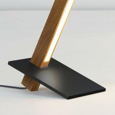 stickbulb by RUX - 6 foot torch floor lamp, Walnut, Blackened Steel Base