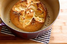 Easy Spicy Garlic Bread in a Pot: I totally just realized that I was given an oven-proof dutch oven for Christmas. THANK YOU DAD!!!