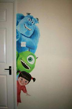 Babyzimmer Disney Monsters Inc 50 trendige Ideen, Baby Room Room disney Mural Da Disney, Disney Wall Murals, Casa Disney, Disney Art, Disney Wall Decor, Wall Murals For Kids, Disney Pixar, Childrens Wall Murals, Disney House