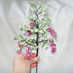 Etsy Russian Team: Tutorial of bonsai tree of beads and wire