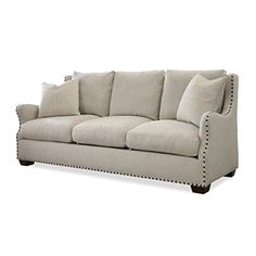 Beaumont Lane Upholstered Sofa in Linen