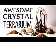 AWESOME DIY Geometric Crystal Terrarium - Urban Outfitters & Pinterest Inspired. In this video I'll show you how we made a geometric crystal terrarium using...