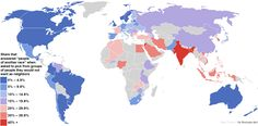 A fascinating map of the world's most and least racially tolerant countries  Data source: World Values Survey