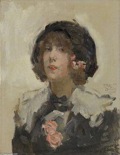 Portrait d une femme - Isaac Israels (1865-1935, Netherlands)