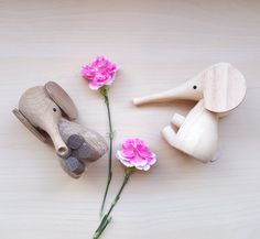 Lucie Kaas Wooden Elephants | Scandinavian designed by Gunnar Florning | Designer Wooden Toys and Wooden Objects | Perfect for Nursery Decor and Children's Interiors #luciekaas #woodentoys #designobject #gunnarflorning #babygift