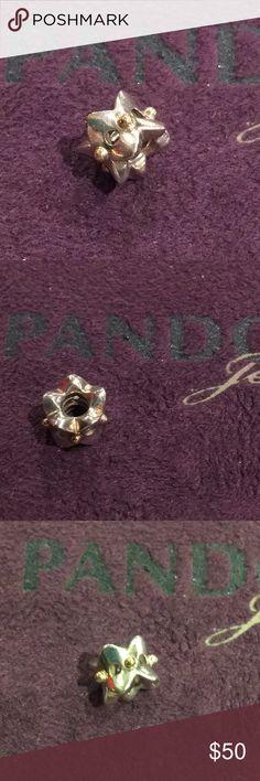 Pandora - Gold Dots Bead Silver Bead with Gold Dots Pandora Jewelry Bracelets