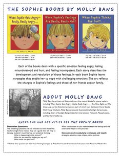 Activities and questions to go with Molly Bang's award-winning Sophie books, which address social emotional learning: feeling angry, feeling misunderstood and hurt, and feeling incompetent. Includes a poster! Social Emotional Learning, Hurt Feelings, Reading Resources, Book Lists, Lesson Plans, It Hurts, Families, Homeschool, Classroom