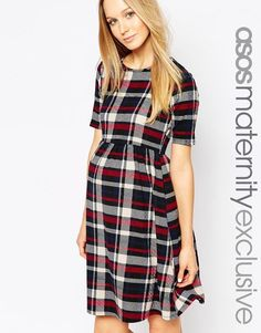 Asos - ASOS Maternity Skater Gown In Verify Print With Minimize Out. >>> Look into more by clicking the image
