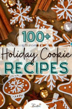 100  holiday cookies to try this year that are perfect for the annual cookie exchange! This amazing round-up of Christmas cookies includes traditional treats, bars, no-bake, gluten-free, vegan and more. Additional tips for hosting a cookie exchange party this year. #Cookies #Recipes #Cooking #Baking #December #Traditions #Holidays Holiday Cookie Recipes, Best Dessert Recipes, Holiday Cookies, Holiday Treats, Fun Desserts, Delicious Desserts, Yummy Food, Peanut Butter Cookies, Sugar Cookies