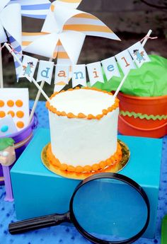 Phineas and Ferb Birthday Party - Kara's Party Ideas - The Place for All Things Party 5th Birthday Boys, Birthday Parties, Birthday Ideas, Happy Birthday, Birthday Cake, Phineas Et Ferb, Cake Banner, Cake Bunting, Party Bunting