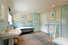 Just love this colour scheme - soft green and cream - I found this on Rightmove