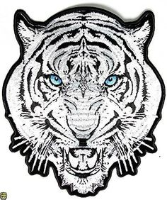 Iron on White Tiger Patch - By Patch Squad