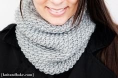 easy, one skein, one night seed stitch cowl ( free kniting pattern )