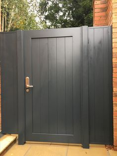 Aluminium pedestrian gate installed Aspley Guise near Woburn.- Aluminium pedestrian gate installed Aspley Guise near Woburn Sands Aluminium pedestrian gate installed Aspley Guise near Woburn Sands - Backyard Gates, Garden Gates And Fencing, Garden Doors, Outdoor Gates, Side Gates, Front Gates, Entrance Gates, Diy Driveway, Front Garden Ideas Driveway