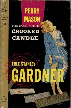Mitchell Hooks: The Case of Crooked Candle by Erle Stanley Gardner / Cardinal C-302, 1958