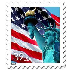Lady Liberty & U.S. Flag (USA 2006)