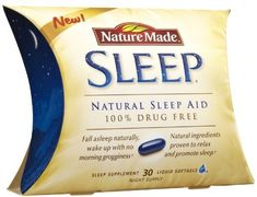 Nature Made Liquid Softgel Sleep Natural Sleep Aid, 30-Count by Nature Made. $10.92. Your best sleep is a natural sleep.  Blissful, restful, healthy sleep. When you sleep well, you wake up refreshed and deeling great. Nature Made Sleep is a 100% drug free, natural sleep aid that helps you get a restful sleep, the way nature intended.