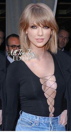 Taylor Swift ; strappy bosom.