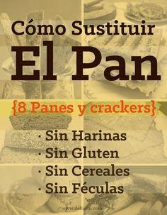 8 Panes Sin Harinas, Sin Gluten y Sin Cereales!!!
